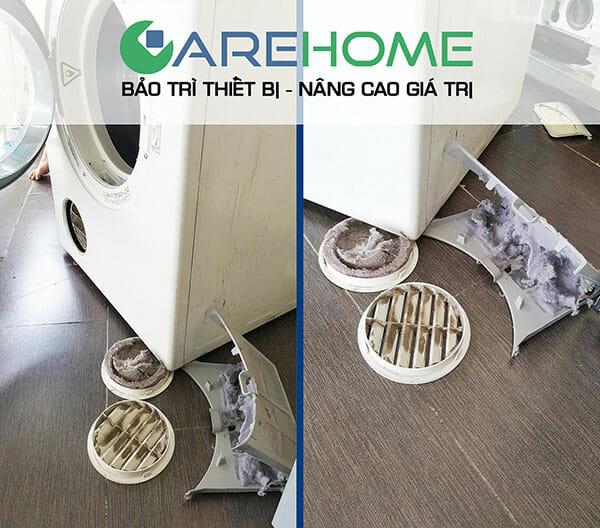 Hướng dẫn cách vệ sinh máy giặt cửa trước