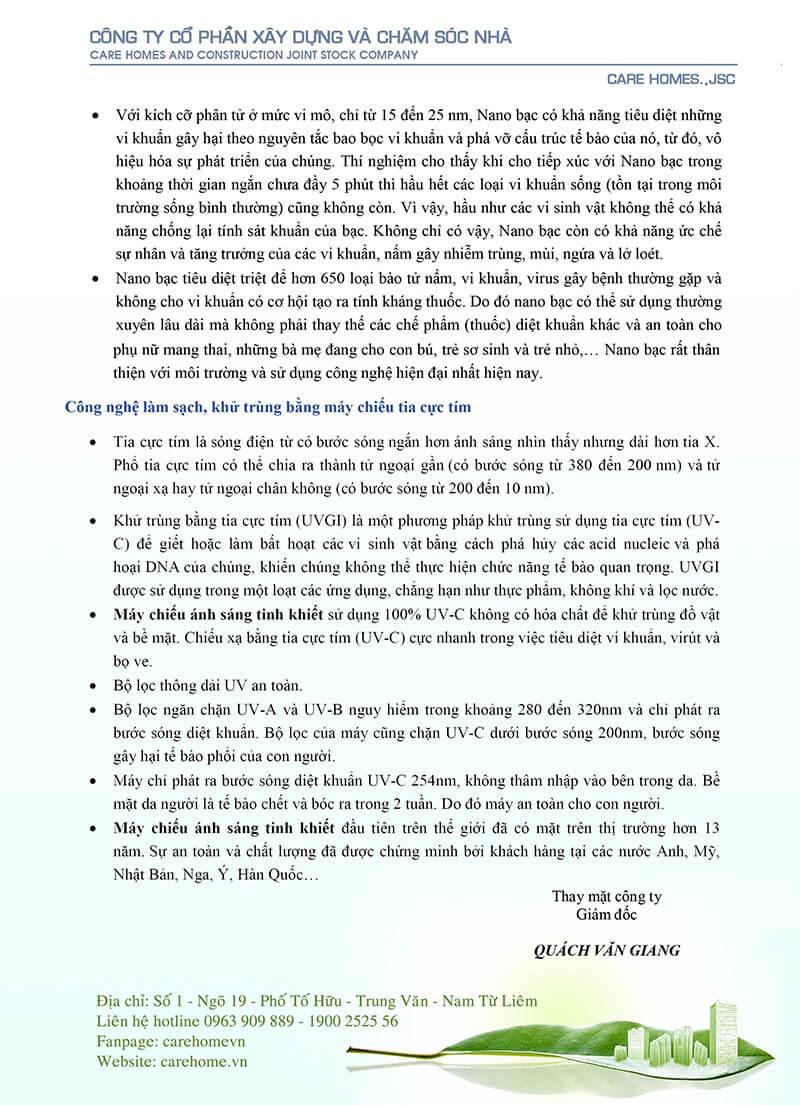 Thư ngỏ gửi đến Quý khách hàng của CareHome, Mr Đa Năng. Trang 3