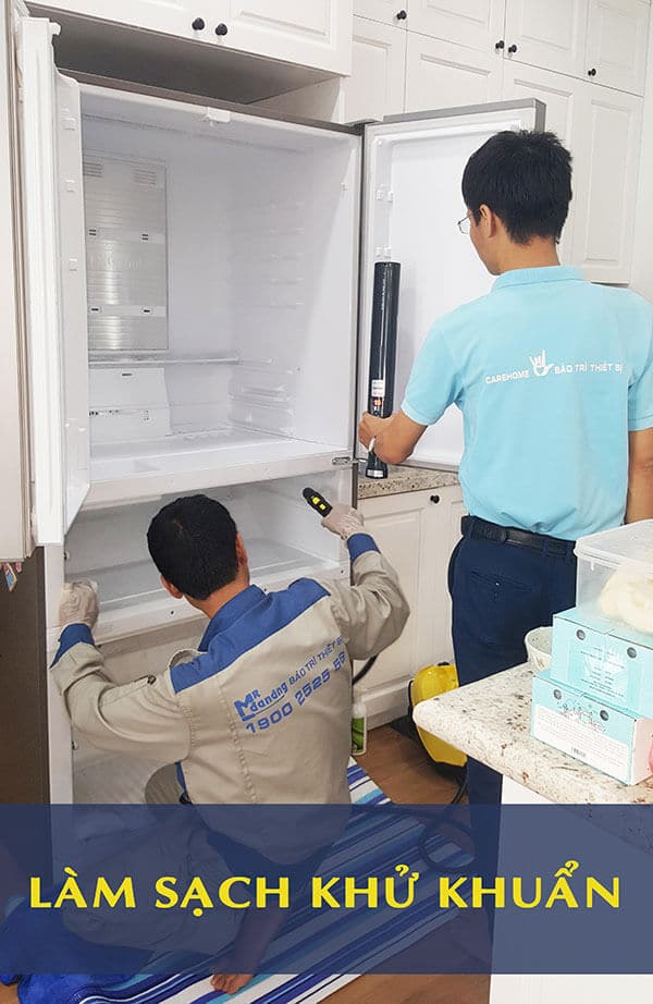 làm sạch khử khuẩn tủ lạnh 1