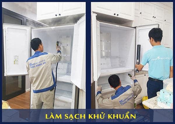 làm sạch khử khuẩn tủ lạnh 5