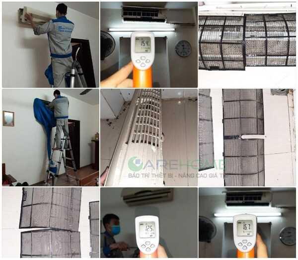 CareHome vệ sinh điều hòa inverter và no inverter