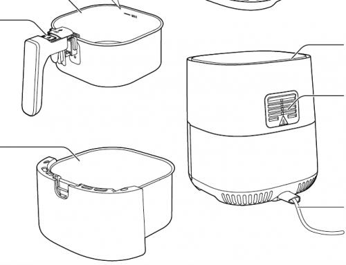 6 bước vệ sinh nồi chiên không dầu Philips HD925X